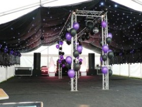 Starcloth lining for marquees